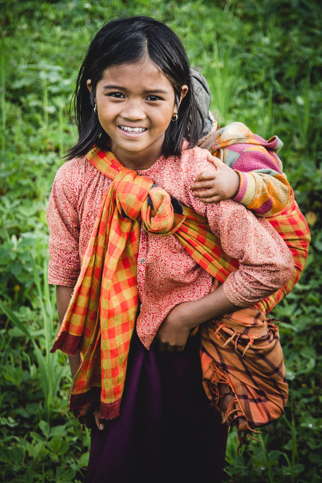 Girl near Inle lake, Myanmar. 2012